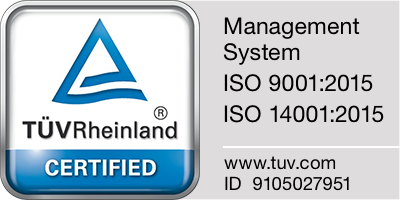 Management System ISO 9001:2015、ISO 140001:2015